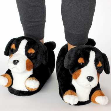 Dieren berner sennen hond pantoffels/sloffen kinderen maat