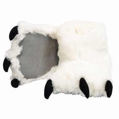 Dierenpoot pantoffels ijsbeer dames