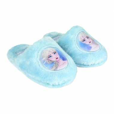 Frozen instap sloffen/pantoffels elsa lichtblauw meisjes