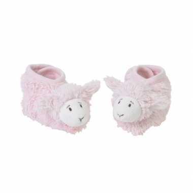 Happy horse babyslofjes lammetje roze