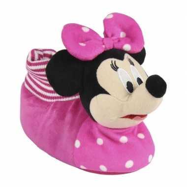 Roze disney minnie mouse d sloffen/pantoffels meisjes