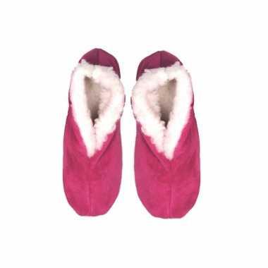 Roze echte suede spaanse sloffen dames maat 10060568