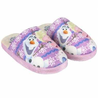 Roze frozen pantoffels meisjes