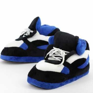 Sneaker pantoffels/sloffen volwassenen blauw/zwart /