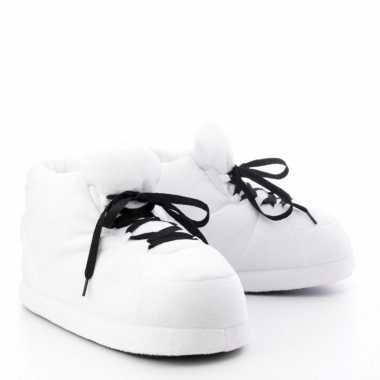 Sneaker pantoffels/sloffen volwassenen wit maat /